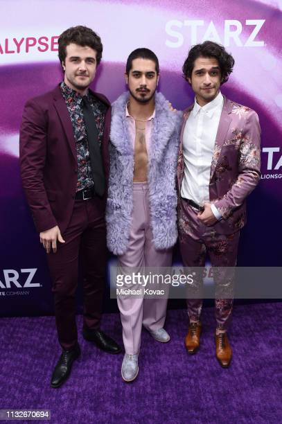Beau Mirchoff Avan Jogia and Tyler Posey attend the Now Apocalypse Los Angeles Premiere at Hollywood Palladium on February 27 2019 in Los Angeles...