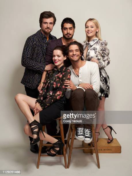 Beau Mirchoff Avan Jogia Kelli Berglund and Katrina Weidman and Tyler Posey of Travel Channel's 'Portals to Hell' pose for a portrait during the 2019...