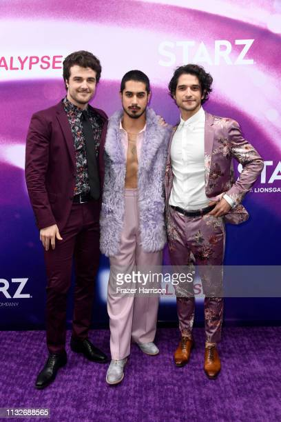 Beau Mirchoff Avan Jogia Tyler Posey attend the 'Now Apocalypse' Los Angeles Premiere at Hollywood Palladium on February 27 2019 in Los Angeles...