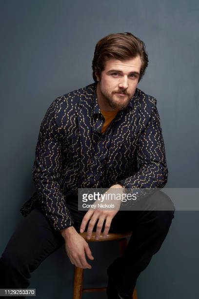 Beau Mirchoff of Starz's 'Now Apocalypse' poses for a portrait at The Langham Huntington Pasadena on February 12 2019 in Pasadena California