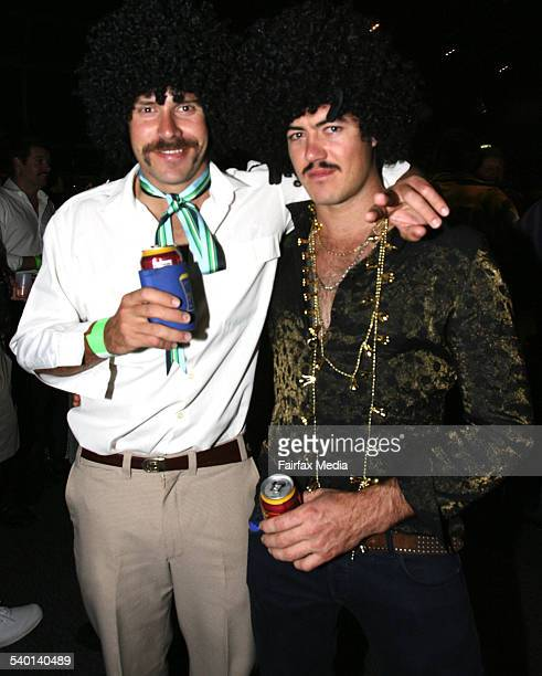 Beau Paine left and Ryan Thomas at the Movember Gala Party at Luna Park Milsons Point Sydney 29 November 2006 SHD Picture by JANIE BARRETT