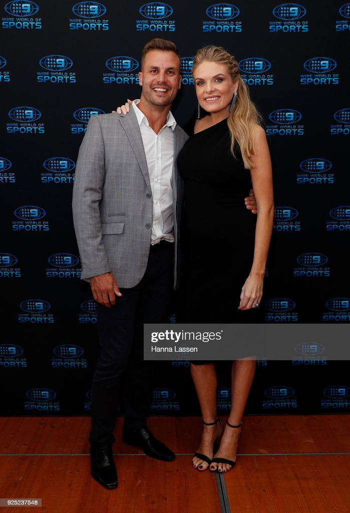 Beau Ryan and Erin Molan attend the Nine Network 2018 NRL Launch at the Australian Maritime Museum on February 28, 2018 in Sydney, Australia.