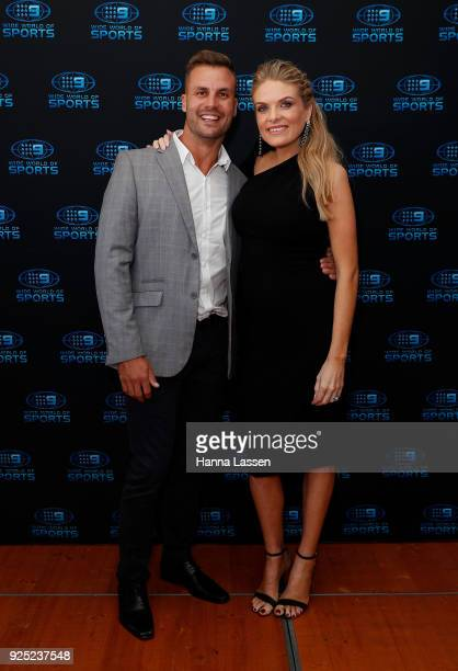 Beau Ryan and Erin Molan attend the Nine Network 2018 NRL Launch at the Australian Maritime Museum on February 28 2018 in Sydney Australia