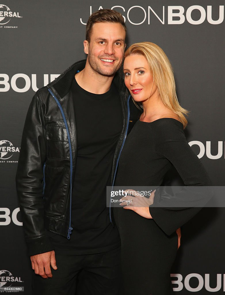 Beau Ryan and Kara Ryan arrive ahead of the Jason Bourne Australian Premiere at Hoyts Entertainment Quarter on July 3, 2016 in Sydney, Australia.