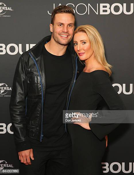 Beau Ryan and Kara Ryan arrive ahead of the Jason Bourne Australian Premiere at Hoyts Entertainment Quarter on July 3 2016 in Sydney Australia