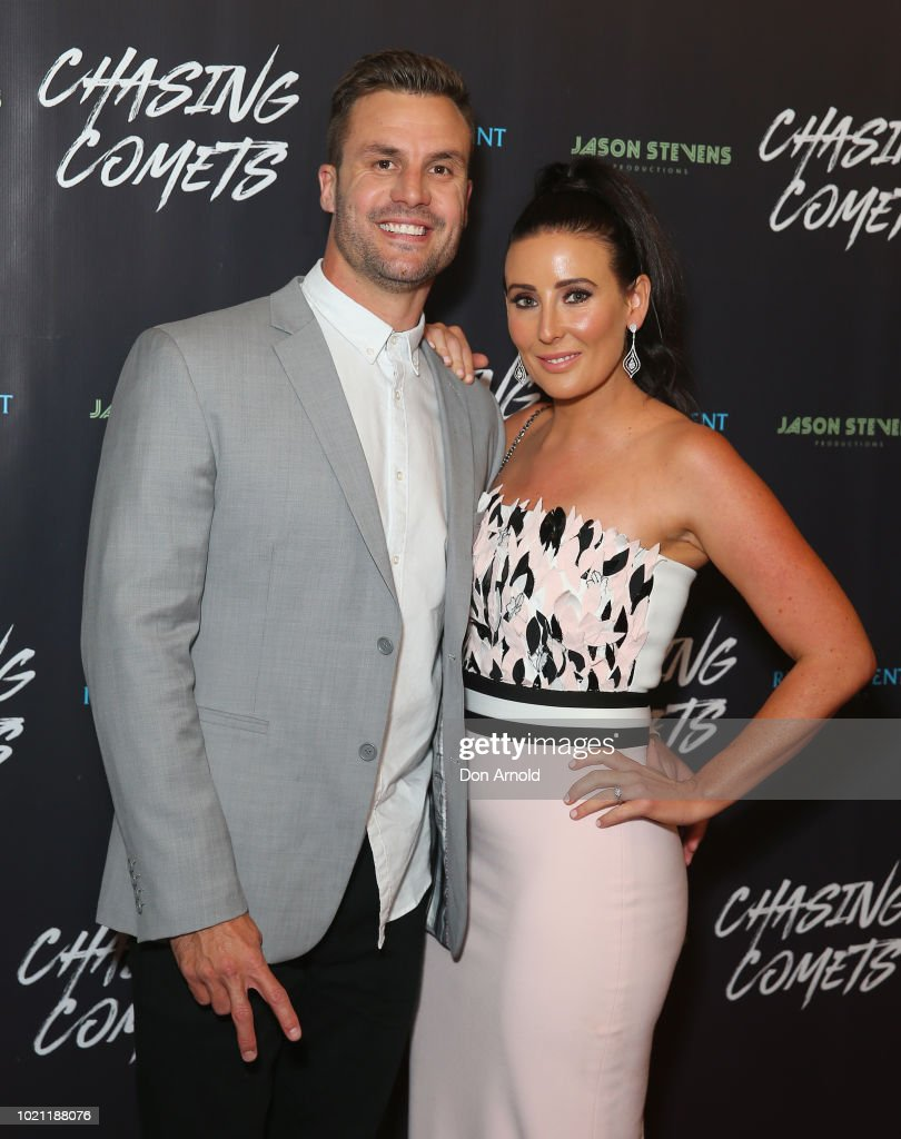 Beau Ryan and Kara Ryan attend the Chasing Comets Premiere on August 22, 2018 in Sydney, Australia.