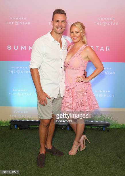 Beau Ryan and Kara Ryan attend the Summer The Star Official Launch at The Star on December 8 2017 in Sydney Australia