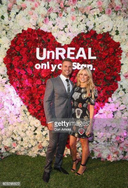 Beau Ryan and Roxy Jacenko attend the UnREAL Australian Premiere Party on February 23 2018 in Sydney Australia