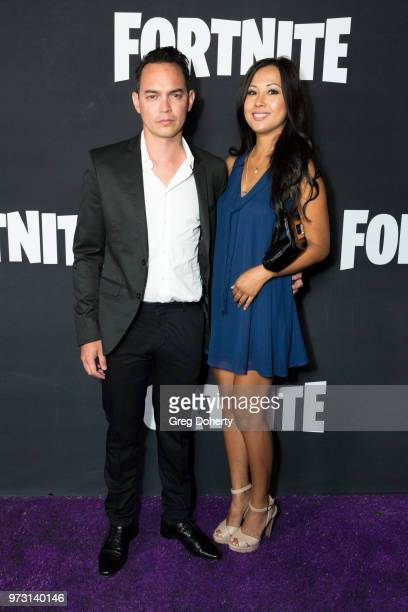 Beau Ryan and Tine Delapena attend the Epic Games Hosts Fortnite Party Royale on June 12 2018 in Los Angeles California