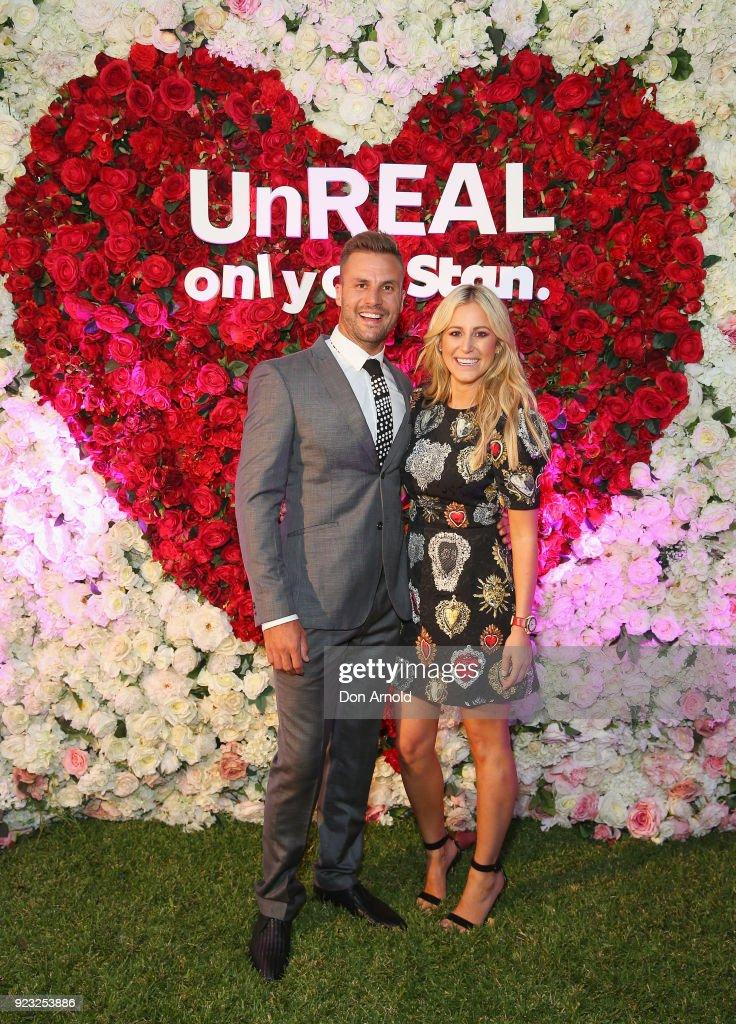 Beau Ryan andRoxy Jacenko attend the UnREAL Australian Premiere Party on February 23, 2018 in Sydney, Australia.