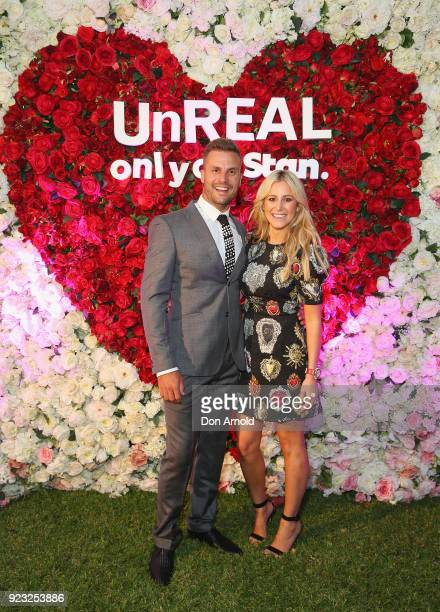 Beau Ryan andRoxy Jacenko attend the UnREAL Australian Premiere Party on February 23 2018 in Sydney Australia