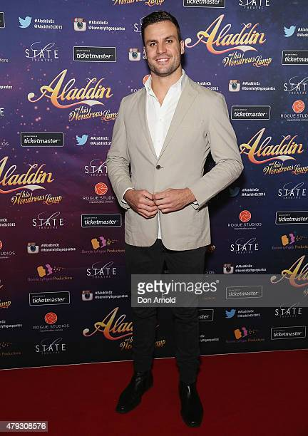 Beau Ryan arrives at Aladdin And His Wondrous Lamp opening night at the State Theatre on July 3 2015 in Sydney Australia