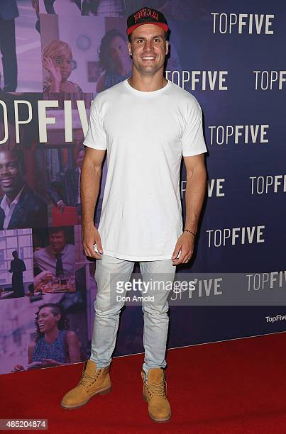 Beau Ryan arrives at the 'Top Five' special screening on March 4 2015 in Sydney Australia