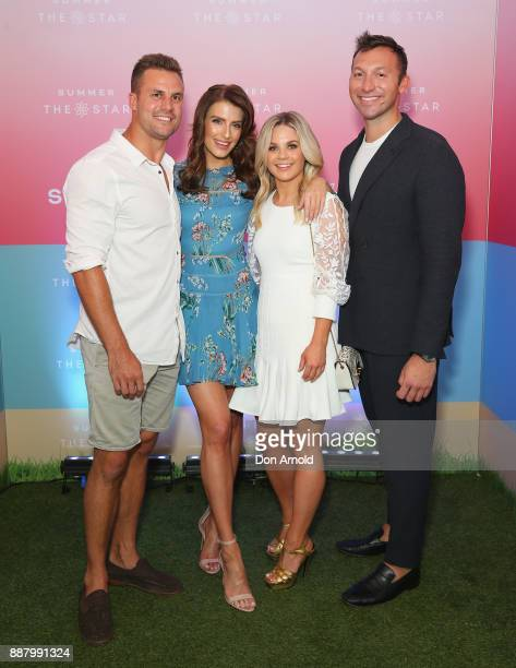 Beau RyanErin Holland Emma Freedman and Ian Thorpe attend the Summer The Star Official Launch at The Star on December 8 2017 in Sydney Australia
