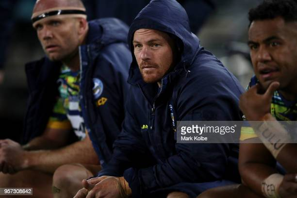Beau Scott of the Eels watches on from the bench during the round 10 NRL match between the Canterbury Bulldogs and the Parramatta Eels at ANZ Stadium...