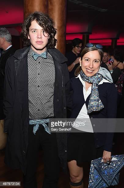 Beau Watson and designer Marisol Deluna attend the Housing Works' Fashion for Action 2015 at the Rubin Museum on November 19 2015 in New York City