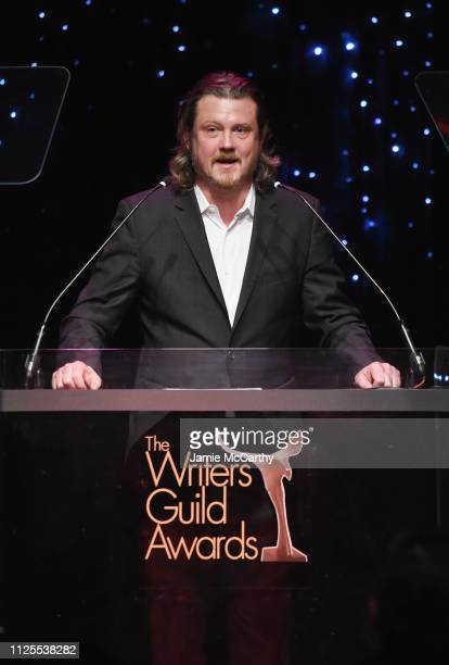 Beau Willimon speaks onstage during the 71st Annual Writers Guild Awards New York ceremony at Edison Ballroom on February 17 2019 in New York City