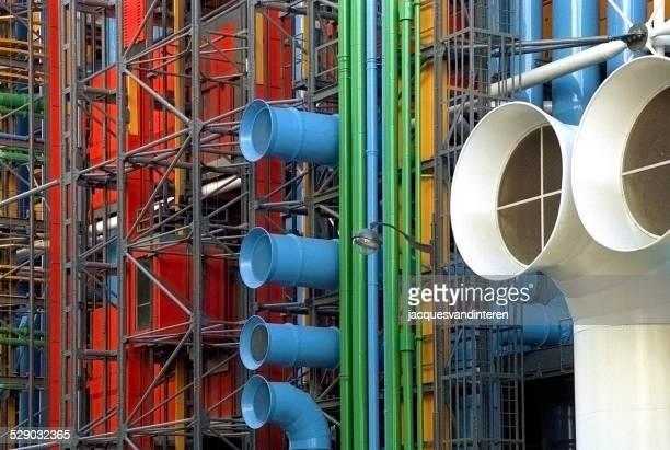 beaubourg or centre georges pompidou in paris, france - centre georges pompidou stock pictures, royalty-free photos & images