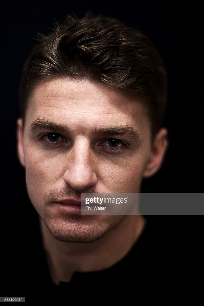 Beauden Barrett of the All Blacks poses for a portrait during a New Zealand All Black portrait session on May 29, 2016 in Auckland, New Zealand.