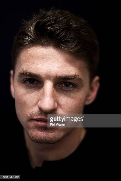 Beauden Barrett of the All Blacks poses for a portrait during a New Zealand All Black portrait session on May 29 2016 in Auckland New Zealand