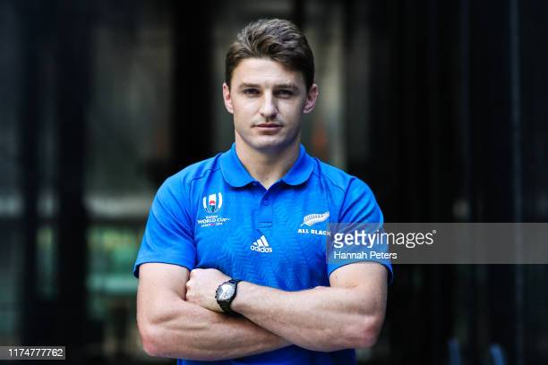 Beauden Barrett of the All Blacks poses for a portrait on September 15 2019 in Tokyo Japan