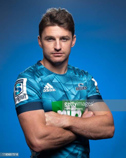 Beauden Barrett poses during a Blues portraits session on November 25 2019 in Auckland New Zealand