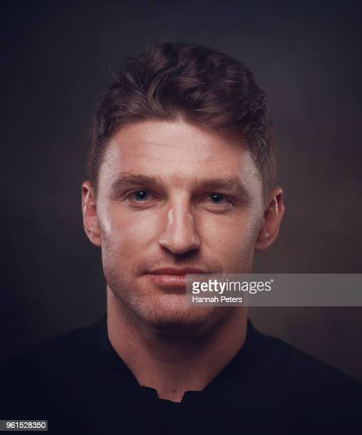 Beauden Barrett poses during a New Zealand All Blacks portraits session on May 21 2018 in Auckland New Zealand
