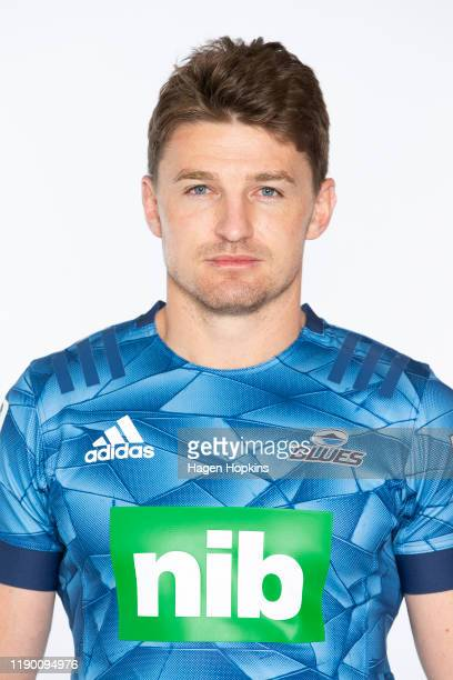 Beauden Barrett poses during the Blues 2020 Super Rugby headshots session on November 25, 2019 in Auckland, New Zealand.