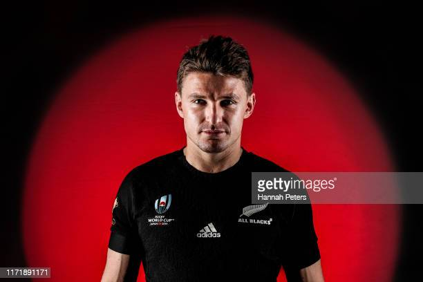 Beauden Barrett poses during the New Zealand All Blacks Rugby World Cup Portrait Session on August 29 2019 in Auckland New Zealand