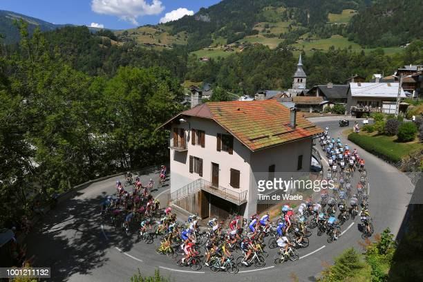 Beaufor Village / Peloton / Landscape / Church / during the 105th Tour de France 2018 Stage 11 a 1085km stage from Albertville to La Rosiere Espace...
