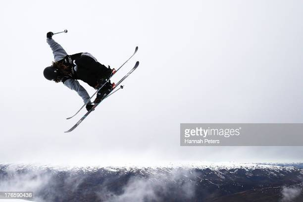 Beau-James Wells of New Zealand competes during qualifying for the FIS Freestyle Ski Halfpipe World Cup during day two of the Winter Games NZ at...