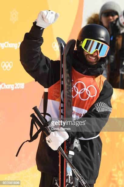 BeauJames Wells of New Zealand competes during the Freestyle Skiing Men's Ski Halfpipe Final on day thirteen of the PyeongChang 2018 Winter Olympic...