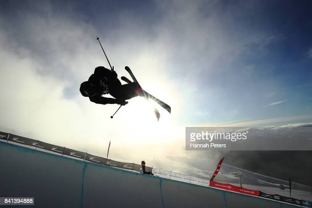 BeauJames Wells of New Zealand competes during the Winter Games NZ FIS Men's Freestyle Skiing World Cup Halfpipe Finals at Cardrona Alpine Resort on...