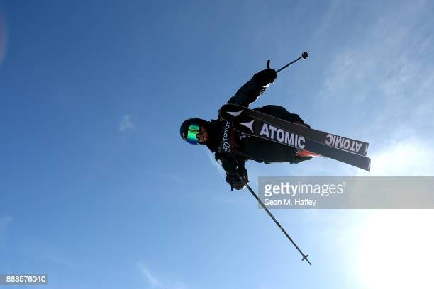 BeauJames Wells of New Zealand competes the finals of the FIS Freeski World Cup 2018 Men's Halfpipe during the Toyota US Grand Prix on December 8...