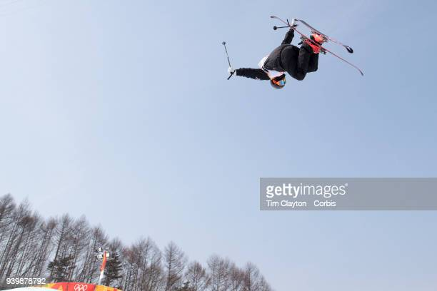 BeauJames Wells of New Zealand in action during the Freestyle Skiing Men's Ski Halfpipe qualification day at Phoenix Snow Park on February 20 2018 in...