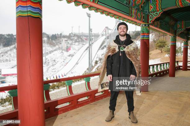 BeauJames Wells poses for a photograph prior to New Zealand Olympic Flag Bearer Cloak Ceremony on February 9 2018 in Pyeongchanggun South Korea