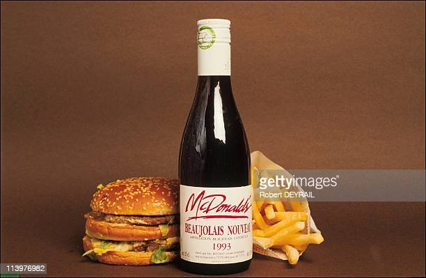 Beaujolais Nouveau sold in Mac Donald's restaurant In Lyon France In February 1994