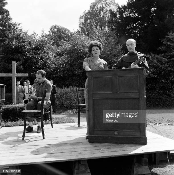 Beaulieu Jazz Festival pictured Johnny Dankworth Cleo Laine and Brother Williams 30th July 1961