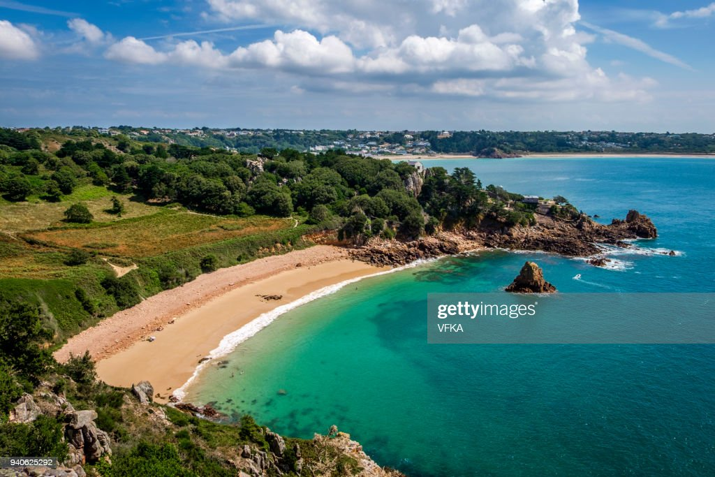 Playa de Beauport, St Aubin, Jersey, Channel Islands : Foto de stock