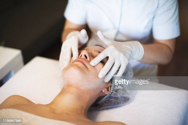 beautician working from home - beautician stock pictures, royalty-free photos & images