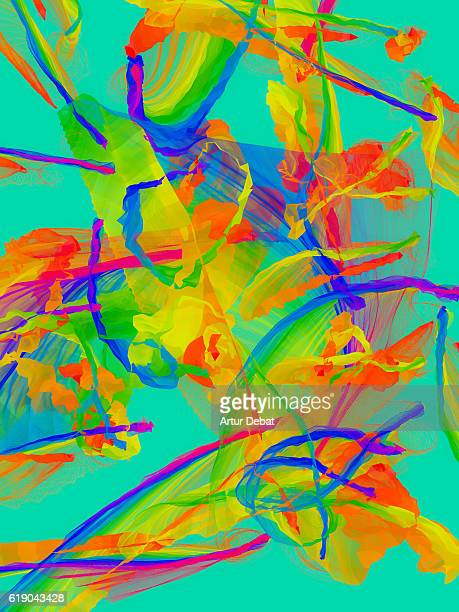 Beautiful abstract colorful composition created with computer digital image