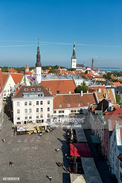 CONTENT] Beautiful aerial view of Raekoja Platz in the old town Tallinn taken in September 2013Tallinn is the capital and largest city of Estonia...