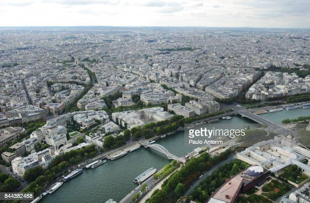 Beautiful Aerial view of the  Paris City in France