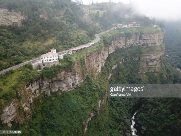 beautiful aerial view of the tequendama waterfall in colombia - cundinamarca stock pictures, royalty-free photos & images