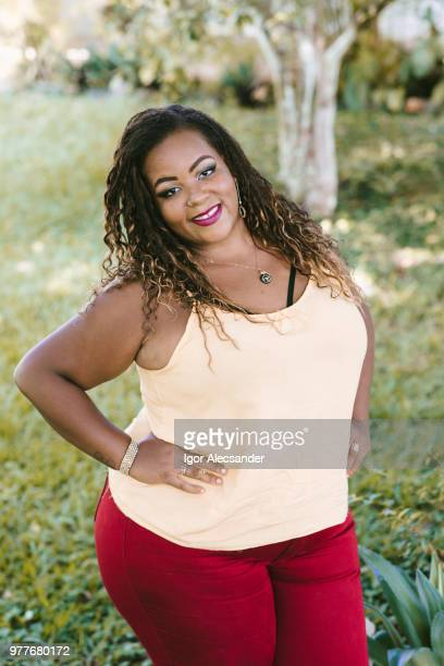 Beautiful african american curvy woman