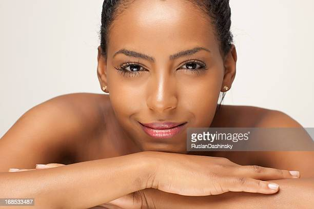 Beautiful african woman face