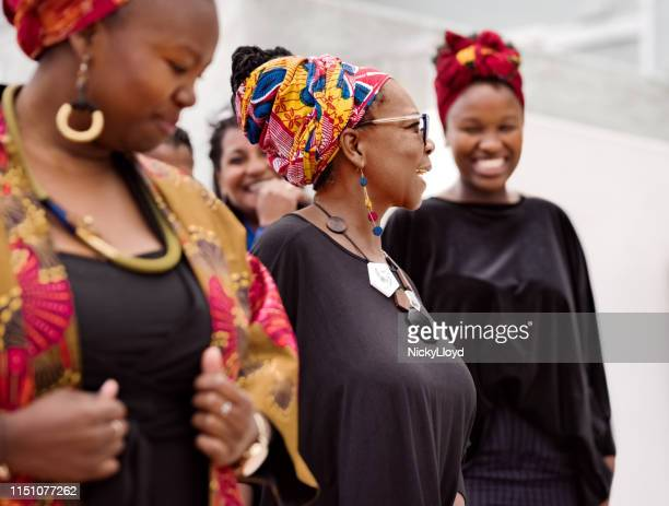 beautiful african women - traditional clothing stock pictures, royalty-free photos & images