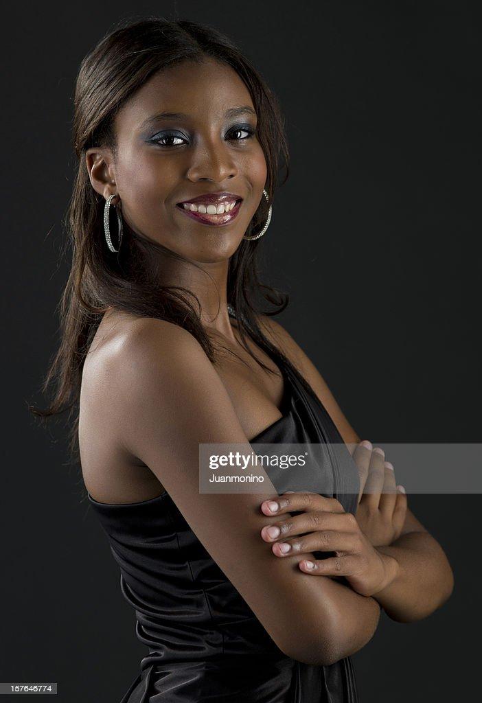 Bela jovem garota afro Caribe : Foto de stock