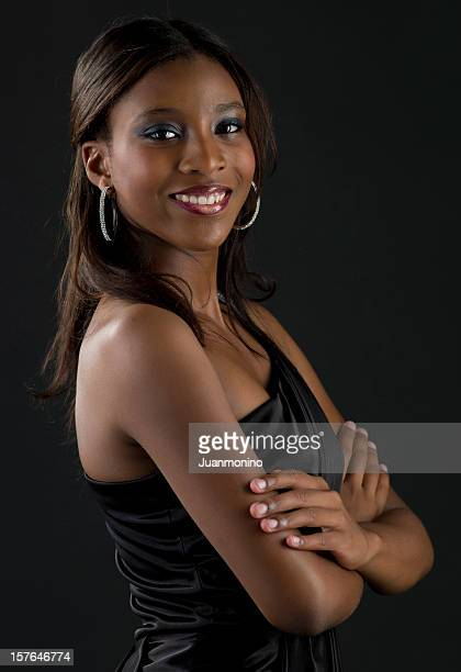 beautiful afro caribbean young girl - black girls stock photos and pictures