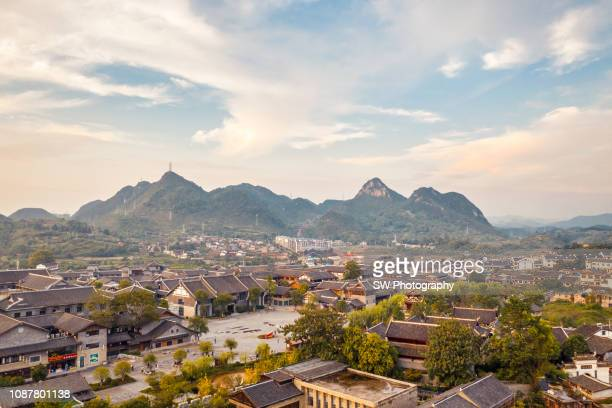beautiful afternoon photo of qingyan historic town - guiyang stock pictures, royalty-free photos & images